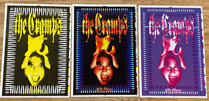 One Of A Kind Rare The Cramps Original Concert Poster New Year's Eve 1994 SET