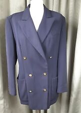 Next 100% Pure New Wool Navy Double Breasted Military Blazer Jacket UK12