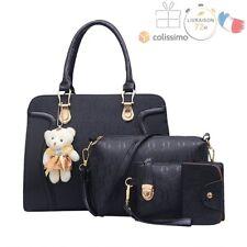 Bag Set Sacs Femme: Sac à Main + Messenger + Sac à Main + Carte Sac Similicuir
