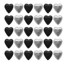 100 CADBURY CHOCOLATE BLACK AND SILVER HEARTS-WEDDING FAVOURS PARTIES PROMOTIONS