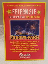 Gewinnspielzettel Quelle von 1999. Mit Gewinnspiel für Europa-Park.