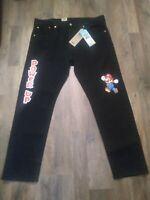 Super Mario x Levi/'s 501 Black Slim Taper Jeans Size 32x32