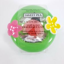 Retired Scentportable Bath and Body Works Sweet Pea Air Freshener Ladybug Flower