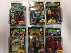 McFarlane Spawn Series 1 Lot of 6 Action Figures 1994 Sealed w/comic books
