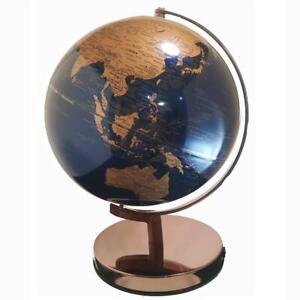 EXQUISITE World Globe Navy/Rose Gold LED Home Decor Wedding 25cm