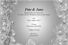 25th Wedding Anniversary Invitations Ebay