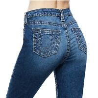 True Religion Women's Halle Big T High Rise Skinny Fit Stretch Jeans