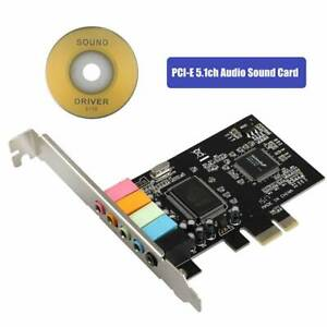 PCI Express PCI-E 5.1 6 Channel PCIE Audio Digital Sound Card Adapter CD Driver