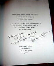 Adam Clayton Powell Sr. Intellectual Biography by Clingan. SIGND HB Dissertation