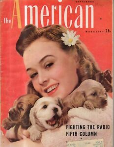 1940 American September - Cocker Spaniels; Tucumcari NM artist; Coeds -brains?
