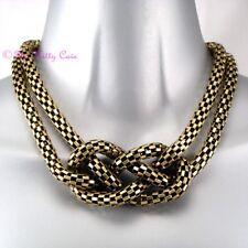Debenhams Deco Burnt Gold Rustic Mesh Vintage Celtic Knot Collar Choker Necklace