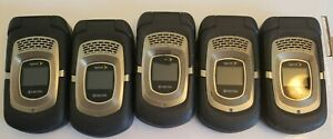 Lot 5x Kyocera E4255 Duramax Flip Cell Phone Sprint Rugged Black PTT AS IS.