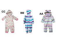 *NWT- CARTER'S - BABY GIRL FLEECE HOODIE JUMPSUIT - SIZE: 0-3M - 24M