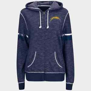 Los Angeles Chargers Majestic Women's Athletic Tradition Full-Zip Hoodie - Navy