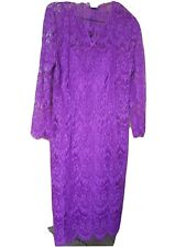 Ladies dress 12/14 Lace & lined