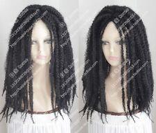new wig Dreadlocks African American blackLONG BRAIDED SINGLE PLAIT/TWIST