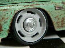 1:25 scale Resin 20 Inch Rally Style wheels with Center cap and Low pro Tire