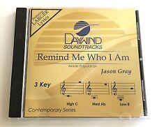 Daywind - Jason Gray - Remind Me Who I Am - accompaniment track christian cd new