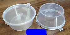 50 x 2oz 50ml Plastic Food Grade Storage Containers with Hinged Lids