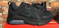 NIKE AIR MAX 200 GS UK6 US7 EUR40 TRIPLE BLACK AT5627 001 BOYS GIRLS TRAINERS