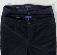 2 PR NWOT TALBOTS Womens 12 34x32 Signature Straight Leg Stretch Corduroy Pants
