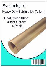 Sublimation Teflon Heat Press Sheet 40cm x 60cm 4 Pack Reusable, easily cleaned