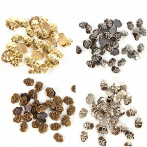 50 & 100pcs Metal Skull Iron On or Hot Fix Studs in Various Colours Lower Price