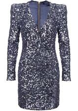 ICONIC BNWT 6 FRENCH CONNECTION SAMANTHA SILVER BLUE SEQUIN PARTY COCKTAIL DRESS