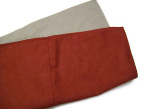 Pottery Barn Fabric Faux Suede Terra Cotta Sofa Toss Pillow Cover New