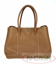 BIGSALE! AUTHENTIC $3750 HERMES Garden Party 36 Gold Country Negonda Leather Bag