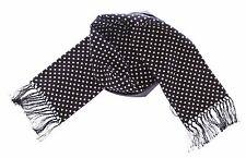 Dolce & Gabbana Black and White Polka Dot cashmere printed Scarf pattern D&G Nwt