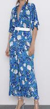 zara floral Print Belted Jumpsuite