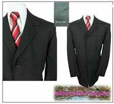 "Pinstripe Tailoring Mens Tailored Car Coat Ch44""L Black"