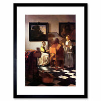 Vermeer Musical Trio Old Master Picture Framed Wall Art Print