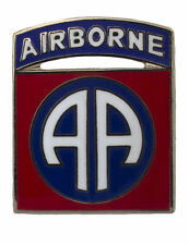 "AIRBORNE DIVISON 82ND AD LAPEL HAT CAP PIN 1"" ONE INCH"