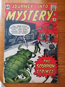 JOURNEY INTO MYSTERY #82 VINTAGE SILVER AGE COMIC PRE-HERO (1962)