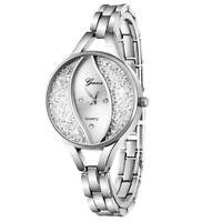 Women Fashion Watch Stainless Steel Band Watch Analog Quartz Round Wrist Watches