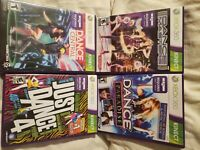 Just Dance 4,Dance Central, Dance Masters and Paradise 4 Games Kinect WORKING