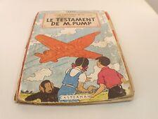BD Jo, Zette et Jocko Le testament de M.Pump 1951 B5 Hergé Casterman