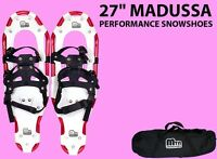 """New MTN WW All Terrian 27"""" Snowshoes up to 220 lbs + Free Carrying Tote Bag-RED"""
