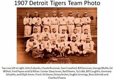 1907 Detroit Tigers Team PHOTO,Ty Cobb,World Series,Hall of Fame Baseball Star