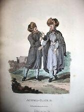 POLONIA,COSTUMI, acciaio originale meta' XIX secolo,