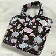New Sanrio Little Twin Stars Kiki & Lala Daily Tote Bag From Japan Cute! Black