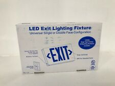 LOT OF 8 LED EXIT LIGHTING FIXTURE RED W/ BATTERY BACKUP