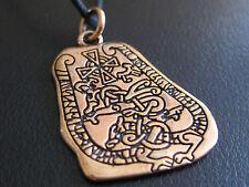 Runenstein Bronze + Band + Box etNox Anhänger Wikinger  / BA 002