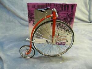 1/10 SCALE MYTEK BIG WHEEL VINTAGE STYLE BICYCLE RED DIECAST COLLECTIBLE -MIB