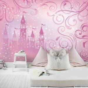 Fototapete Mädchen Märchen Prinzessin Schloss Kinderzimmer Für Kinder Rosa