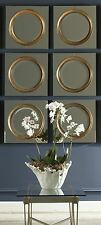 NEW SET OF SIX ANTIQUED OUTER MIRROR CENTER FRAME WALL MIRRORS CONTEMPORARY