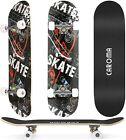 "31""x 8"" Kids Trick Complete Skateboard Double Kick Concave Skateboards Gift Fun"