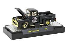 ~L162 32500 38 M2 MACHINES AUTO TRUCKS 1956 FORD F100 PICK UP TRUCK  1:64 chase